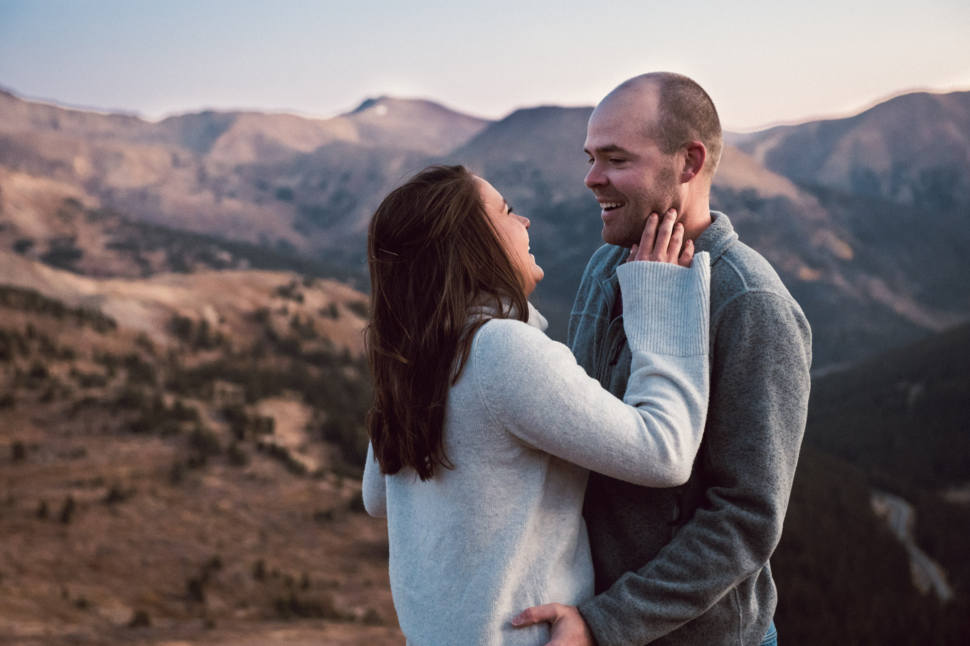 Mountaintop Engagement Photoshoot