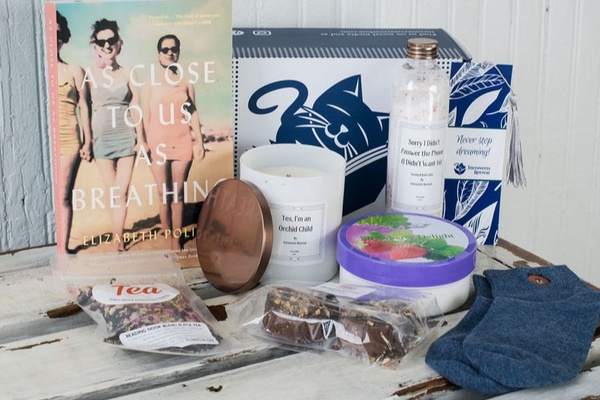 Mother's Day Gift Ideas For New Mom's- Introverts Retreat Box with book and goodies included