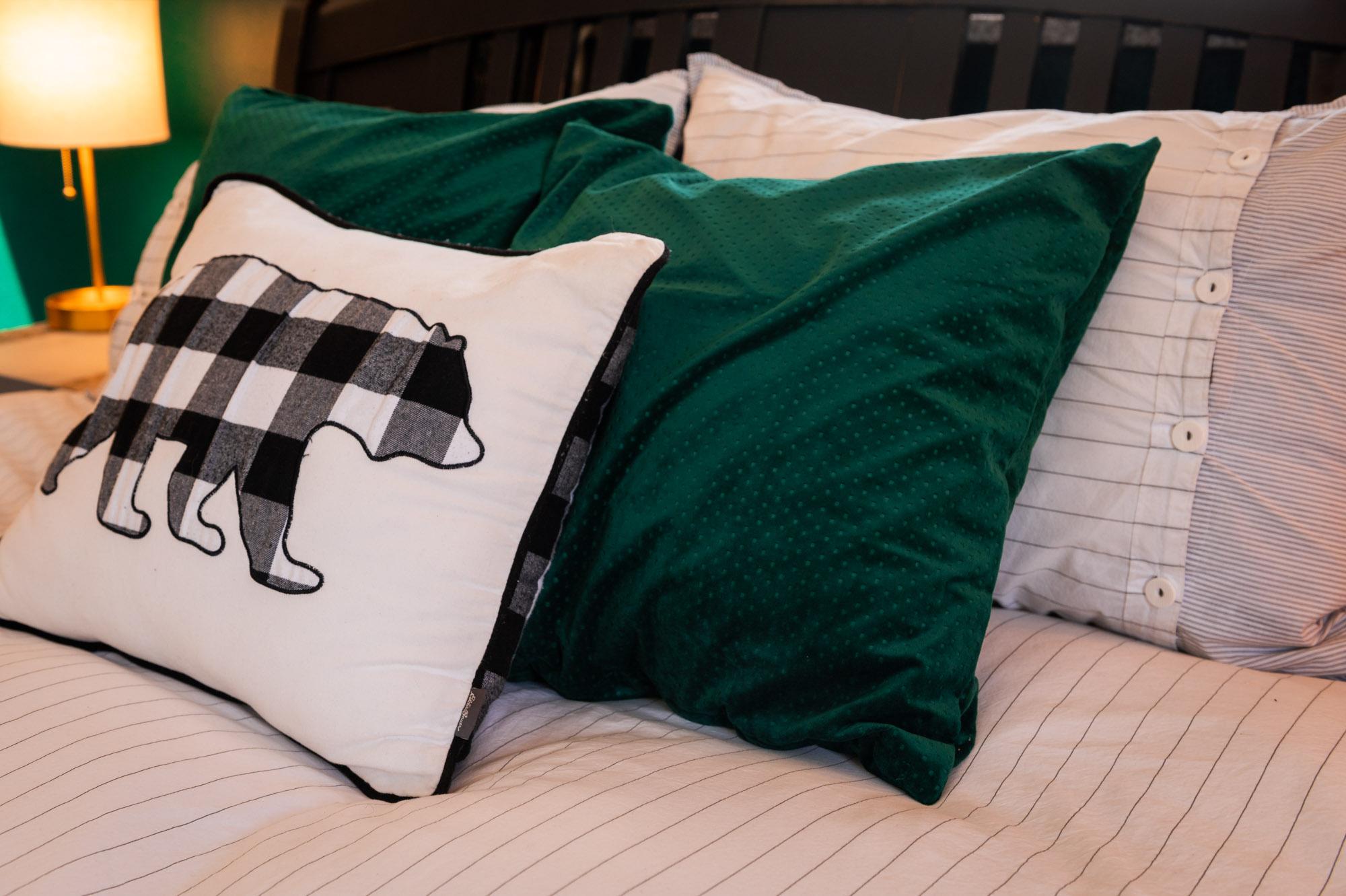Emerald Green throw pillows