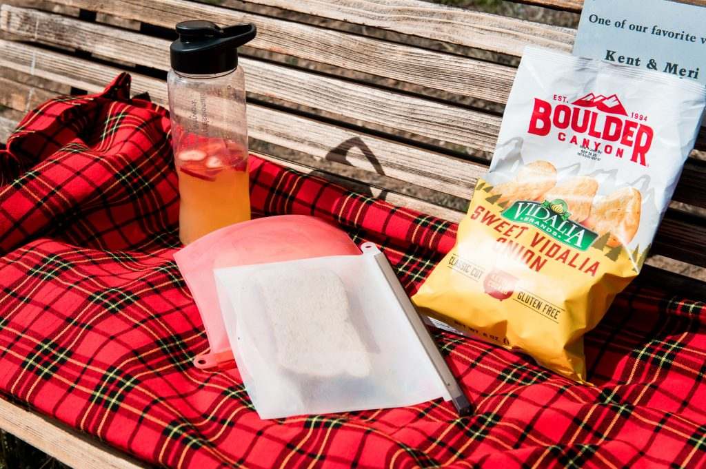 Date night doesn't have to be glamorous, a simple picnic with a great view is all you need