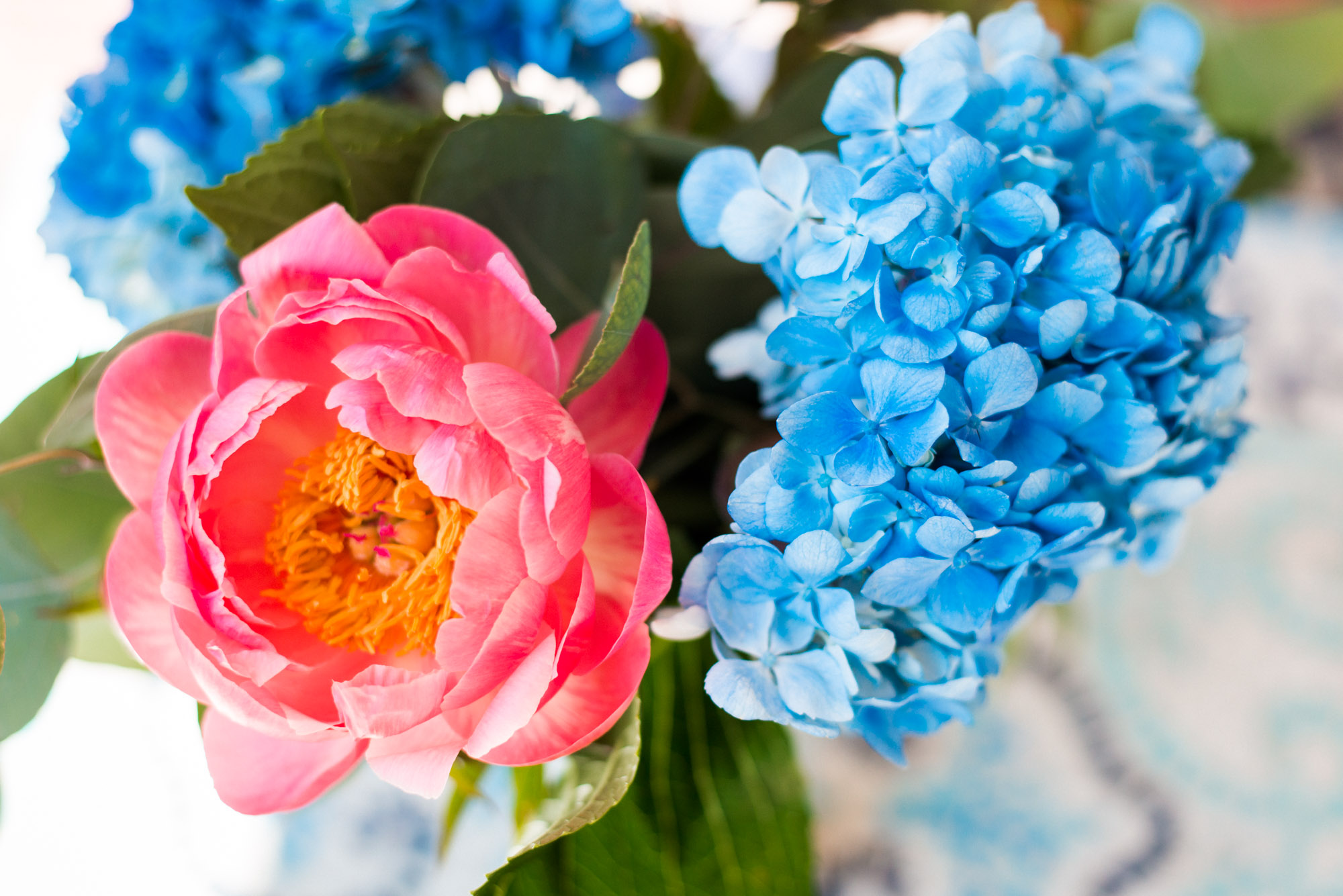 Grocery store Flowers of Peonies and hydrangeas for your home