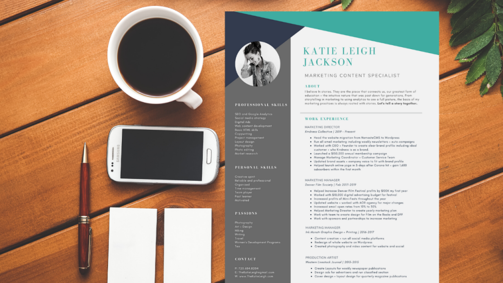 Creating a Resume that Connects. Using a Canva template to design my resume.