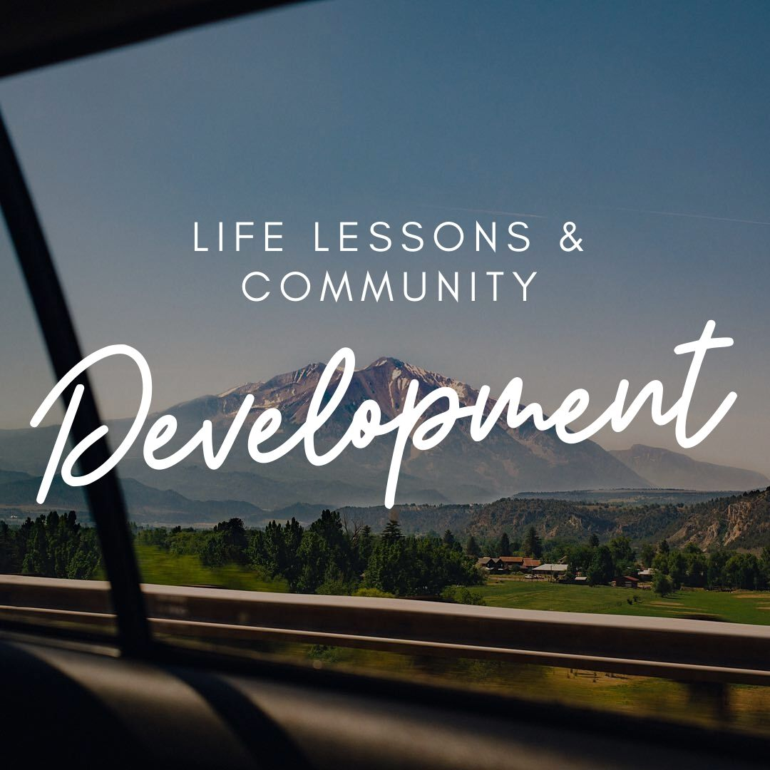 Life lessons and community blog
