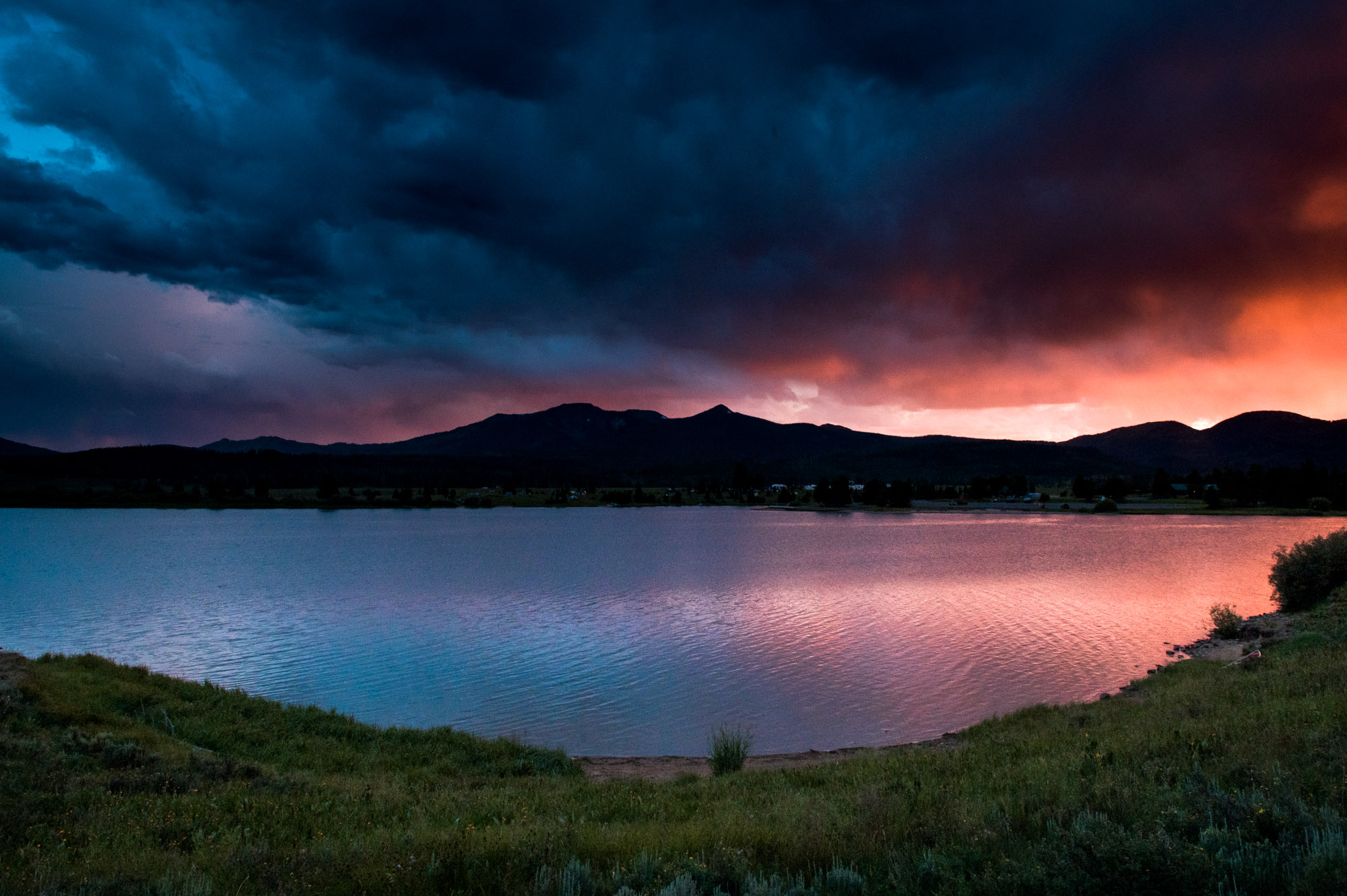 Sunset over Steamboat Lake